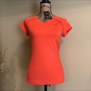 ~Adidas~ Neon coral athletic top small